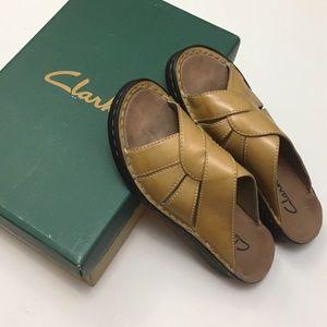 Clarks Susan Tan Leather Shoes
